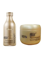 L'Oreal Paris Absolut Repair Lipidum Shampoo With Mask (Set of) -  online shopping for treatment