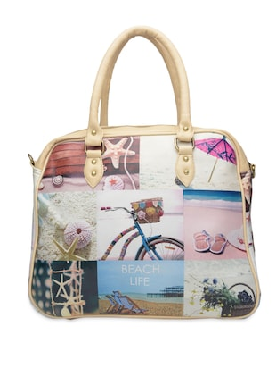 Multicolored beach printed faux leather handbag - 1290607 - Standard Image - 3