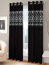 BSB Trendz  EYELET BLACK DOOR CURTAIN SET OF 2 - By