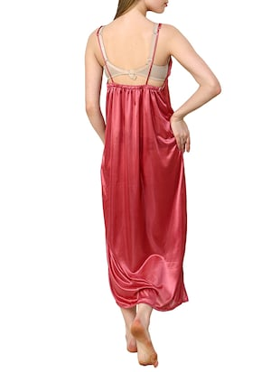 red satin gown set - 12909843 - Standard Image - 3