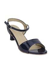 Navy ankle strap sandal -  online shopping for sandals