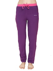 purple cotton track pants -  online shopping for Track pants