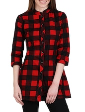 red checkered cotton regular shirt -  online shopping for Shirts