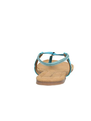 blue leatherette back strap sandals - 12954460 - Standard Image - 3