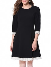 black rayon dress -  online shopping for Dresses