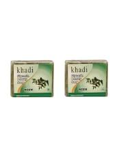 Khadi Glycerin & Neem Soap Pack Of 2, (100gm X2) - By