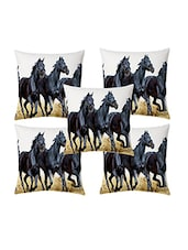 Home Sazz Set Of 5   Animals Themed Cushion Covers - By