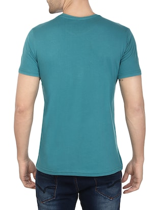 blue cotton printed t-shirt - 13007642 - Standard Image - 3