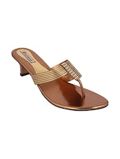 gold pu toe separator sandals -  online shopping for sandals