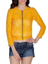 yellow lace summer jacket -  online shopping for Summer Jackets