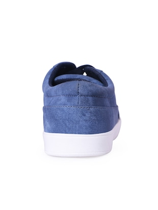 blue Denim lace up sneaker - 13066941 - Standard Image - 3