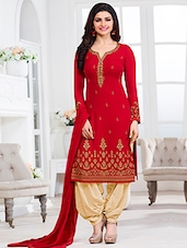 red georgette dress material -  online shopping for Dress Material