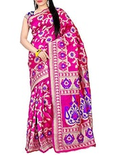 Pink Kanjeevaram Silk Saree - By