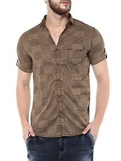 Mufti Mens Khaki Mid Rise Slim Fit Casual Shirts -  online shopping for casual shirts