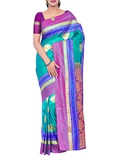 green silk kanjivaram saree -  online shopping for Sarees