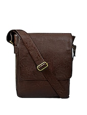 brown leatherette messengerbag -  online shopping for messengerbags
