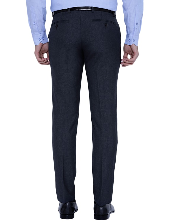 97e6dae41c5 Buy Navy Blue Polyester Flat Front Trousers Formal by Black Coffee - Online  shopping for Formal Trousers in India | 13144035