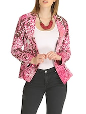 pink printed cotton summer jacket -  online shopping for Summer Jackets