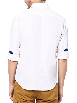 white linen casual shirt - 13214886 - Standard Image - 3