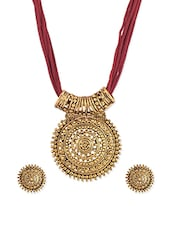 red brass pallaaka necklace -  online shopping for Necklaces