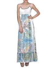 Multicolored Viscose Printed Sleeveless Maxi Dress - By - 1323290