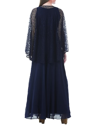 cape sleeved gown - 13252729 - Standard Image - 3
