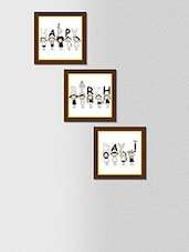 Multicolored Synthetic Wood And Paper Happy Birthday  Wall Painting With Frame - By
