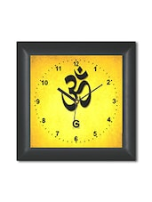 Multicolored Plastic And Glass Om Printed Wall Clock - By