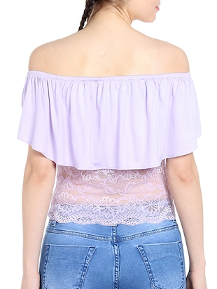 light purple viscose top - 13269654 - Standard Image - 3
