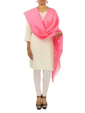 Baby Pink Poly Silk Stole - By