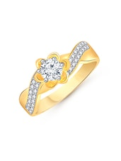 gold metal hand ring -  online shopping for rings
