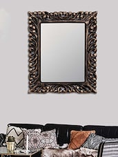 MakeHomeHappy Gold MDF Voguish Wall Mirror - By