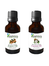 Combo Of Argan Oil And Coconut Oil For Hair Growth, Skin Care (Each 15ML)- 100% Pure Natural Oil - By