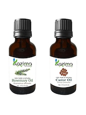 Combo Of Rosemary Oil And Castor Oil For Hair Growth, Skin Care (Each 15ML)- 100% Pure Natural Oil - By