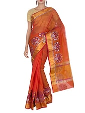 Red Art Silk Jacquard Zari Banarasi Saree - By