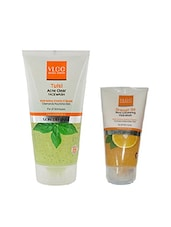 VLCC Tulsi Acne Cleas Face Wash With Orange Oil Pore Cleansing Face Wash Free - By