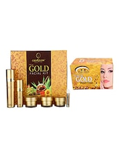 OXYGLOW GOLD FACIAL KIT 165 GM WITH PINK ROOT GOLD BLEACH 250 GM - By