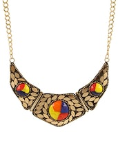 Multi Gold Plated Long Necklace - By