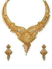 gold brass other necklace -  online shopping for Necklaces