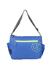 blue polyester slingbag -  online shopping for messengerbags