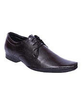 black Leather lace-up derby -  online shopping for Derbies