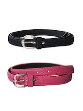 Multi Colored Leatherette (pu Belt - By