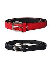 Multi Colored Leatherette (pu Belt - By - 13681421