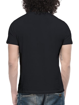 black cotton t-shirt - 13705796 - Standard Image - 3