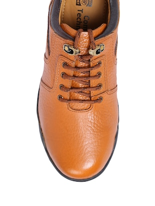 brown Leather lace up boot - 13745722 - Standard Image - 3