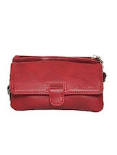 red leatherette regular clutch -  online shopping for clutches