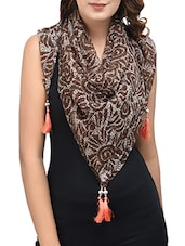 brown chiffon scarf -  online shopping for Scarves