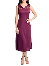 purple fit and flare dress -  online shopping for Dresses