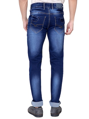 blue denim heavy washed jeans - 13877711 - Standard Image - 3