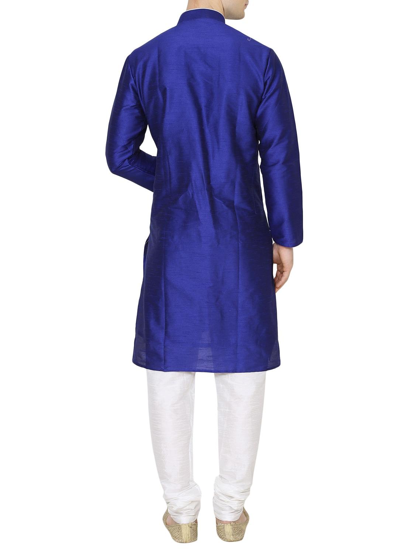 Buy Royal Blue Silk Blend Kurta Pyjama Set by Royal Kurta - Online ... aa25ea198